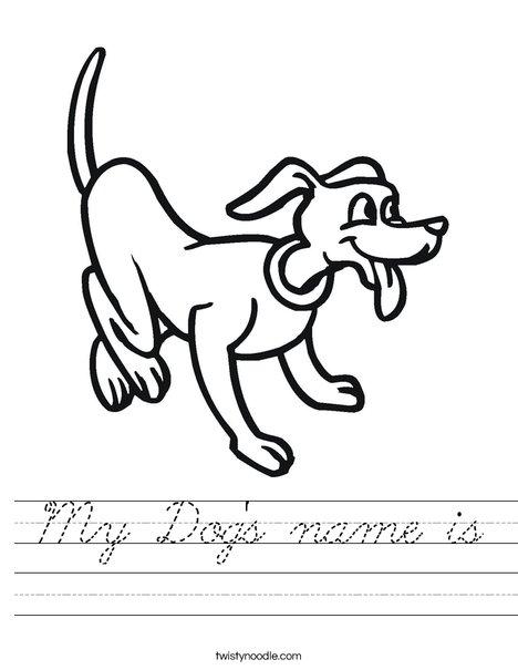Playful Dog Worksheet