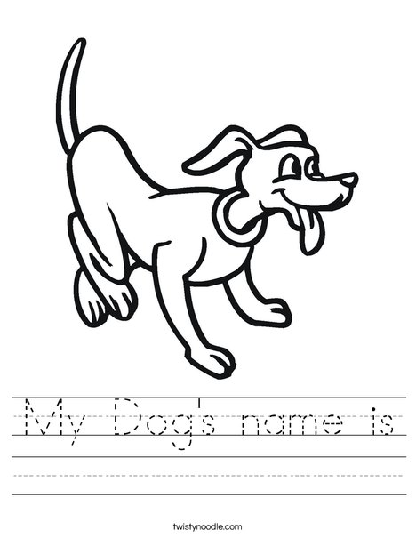 Playful Dog Worksheet