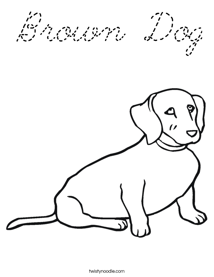 Woof Sketch Coloring Page