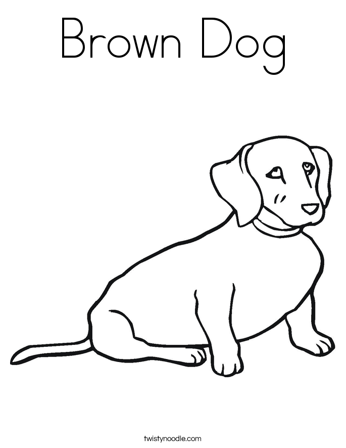 Brown Dog Coloring Page