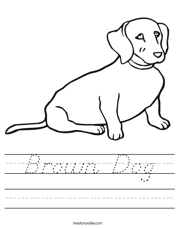 Brown Dog Worksheet