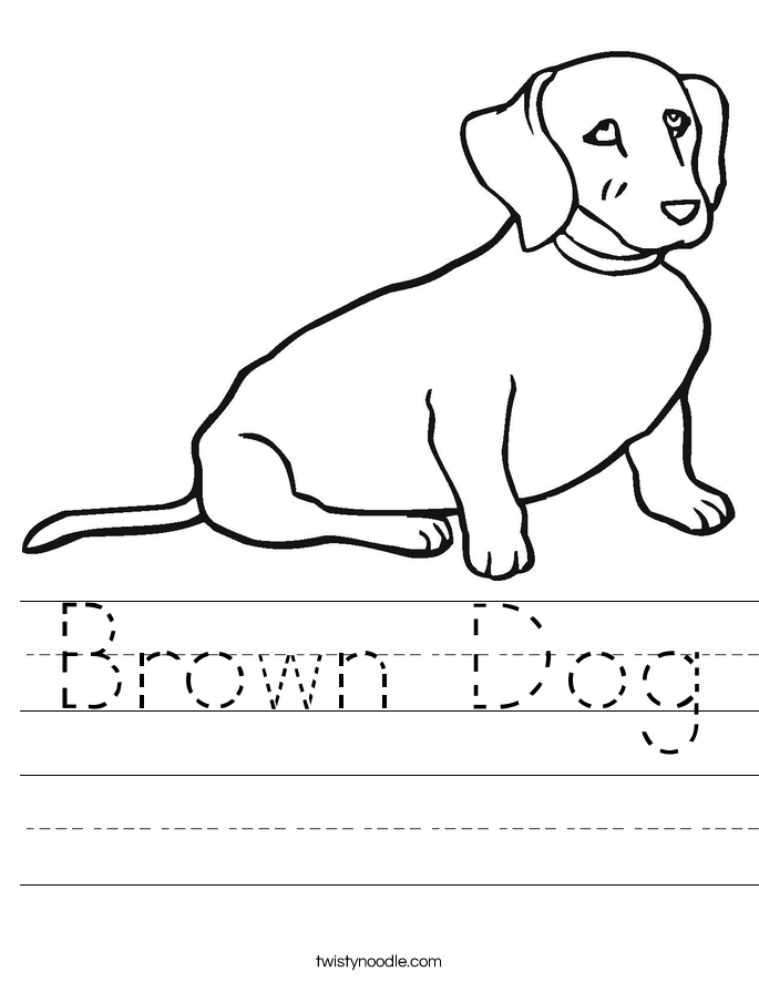 Brown Dog Worksheet