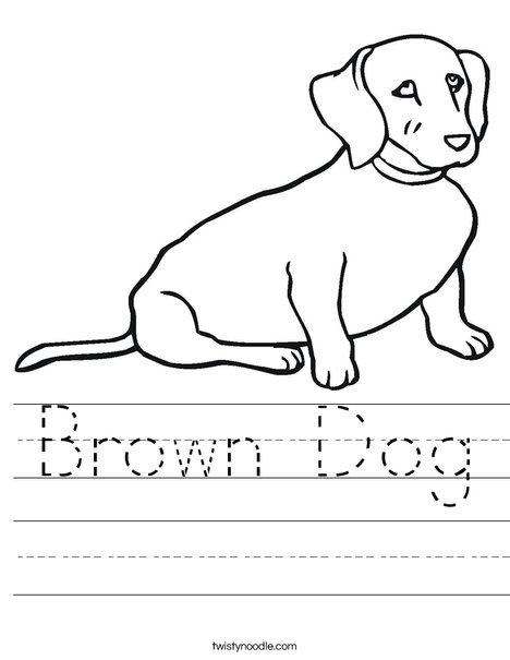 Wiener Dog Worksheet