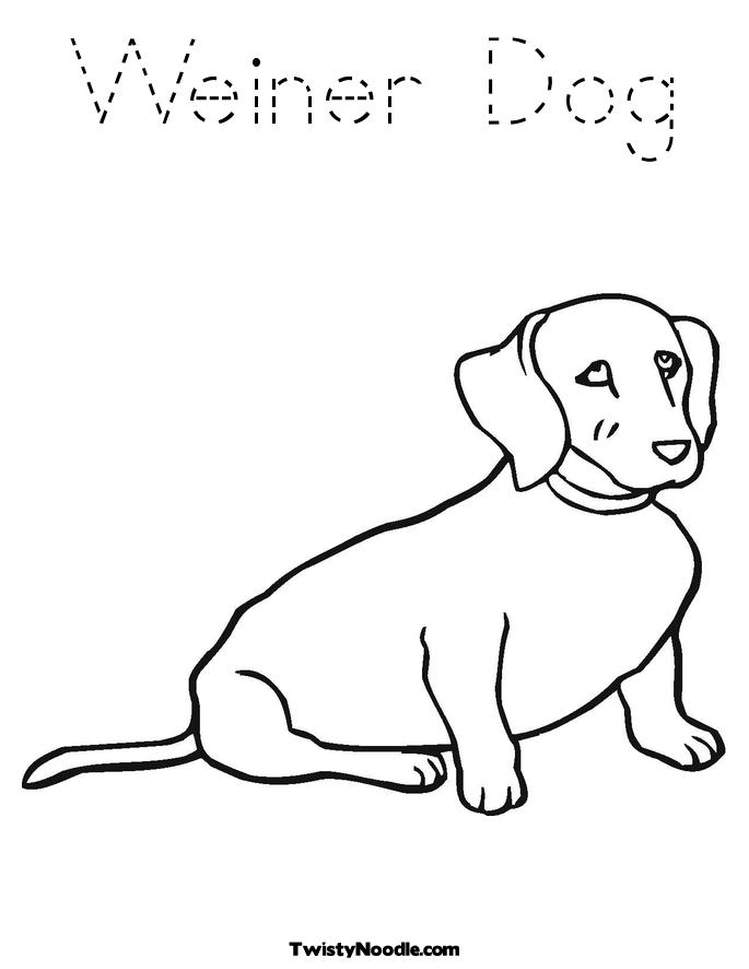 A weiner dog coloring pages for Weiner dog coloring pages