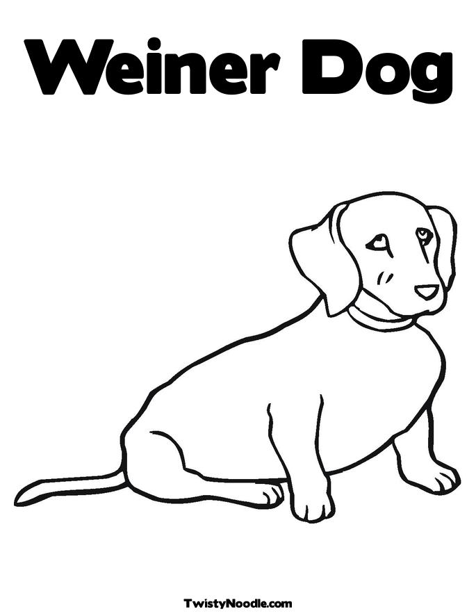 weenie dogs coloring pages - photo#3