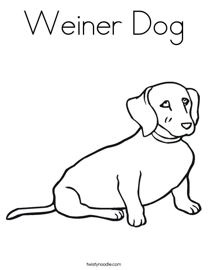 Weiner Dog Coloring Page