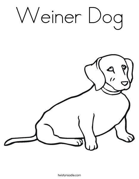 Wiener Dog Coloring Page