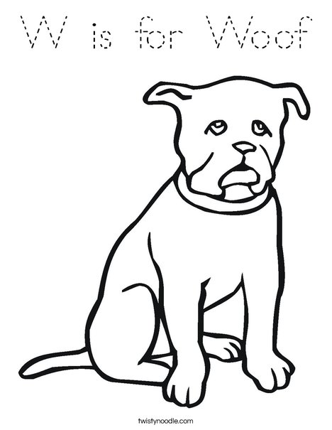 Black Dog Coloring Page