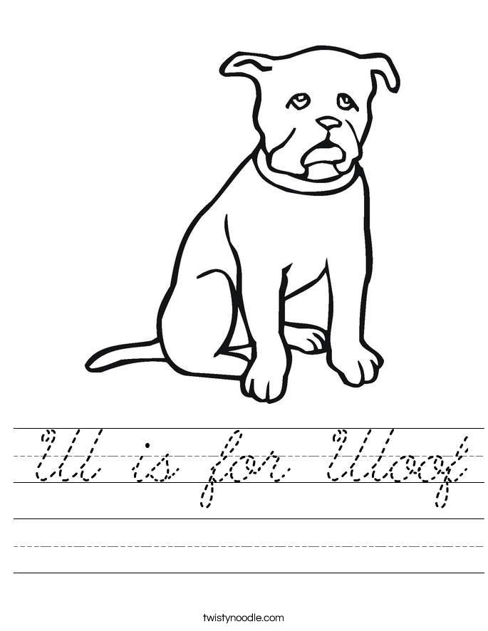 W is for Woof Worksheet