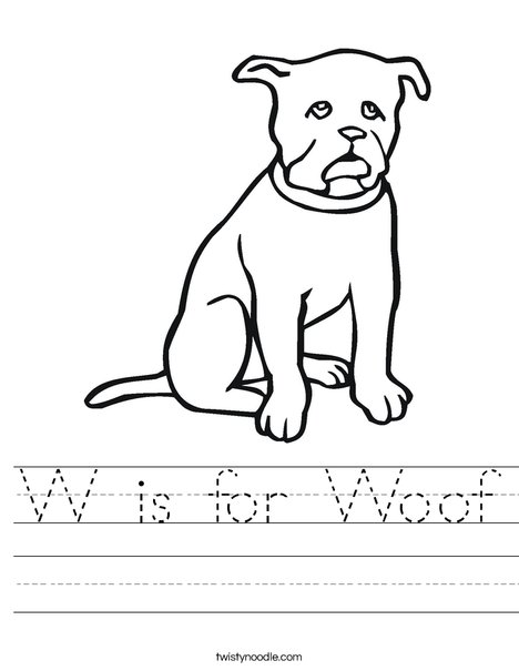 Black Dog Worksheet