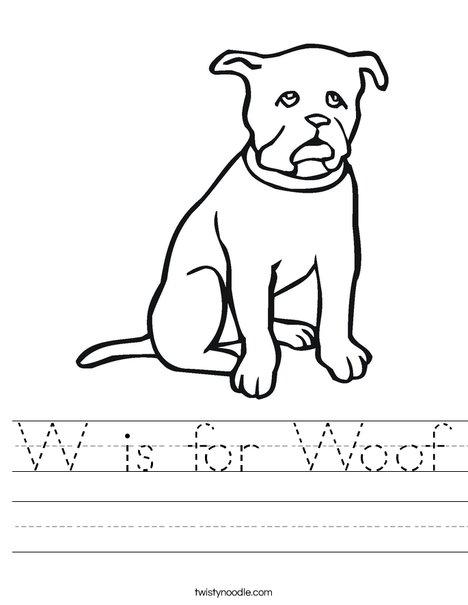 Black Dog Worksheet