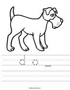 d o _ Handwriting Sheet