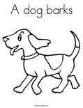 A dog barks Coloring Page