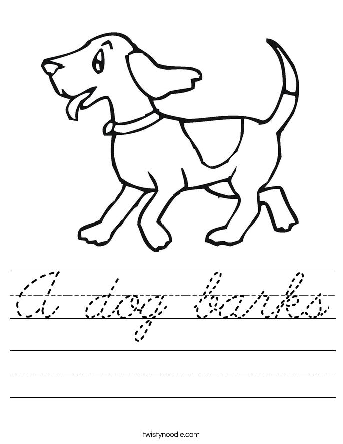 A dog barks Worksheet