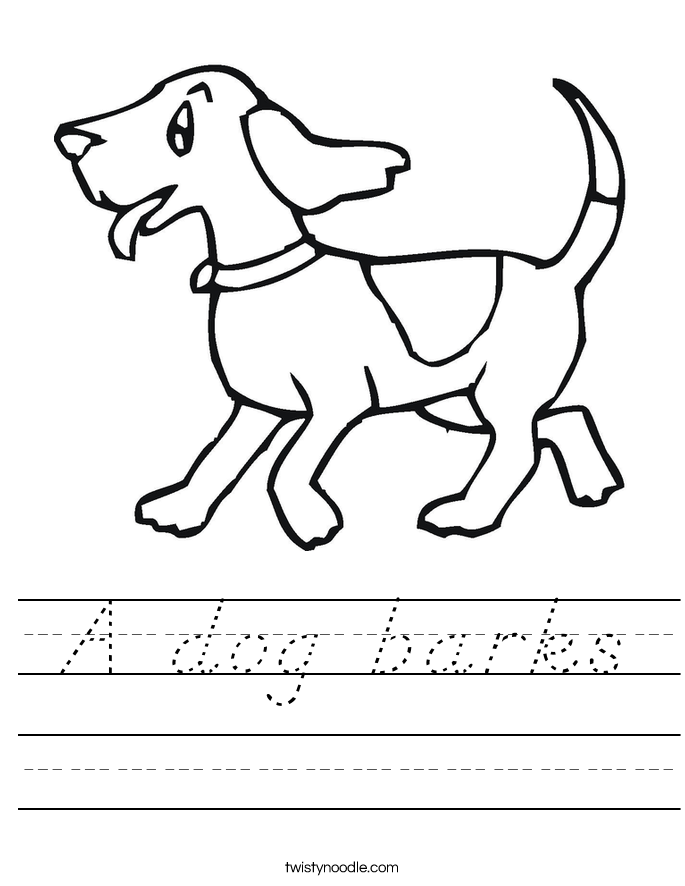 A dog barks Worksheet