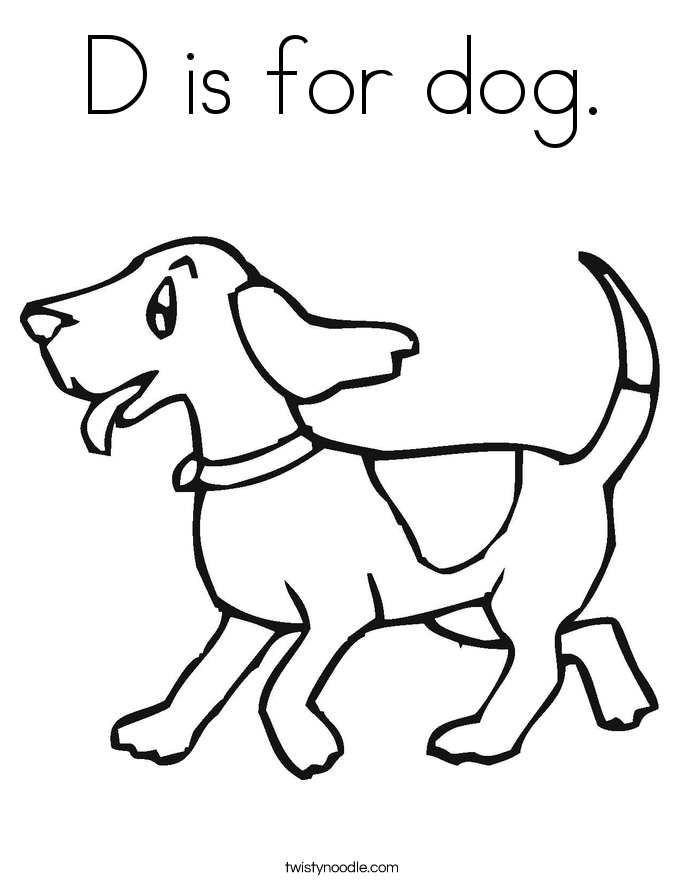 d for dog coloring pages - photo #7