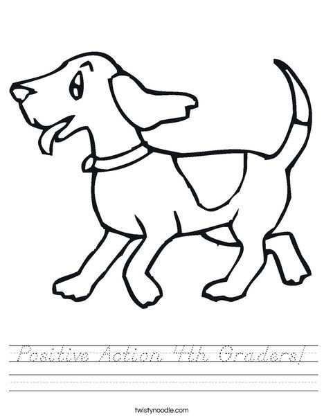 Happy Dog Worksheet
