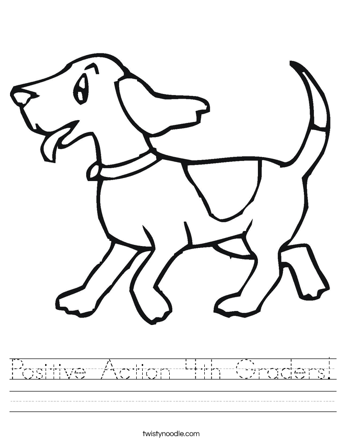 Positive Action 4th Graders! Worksheet