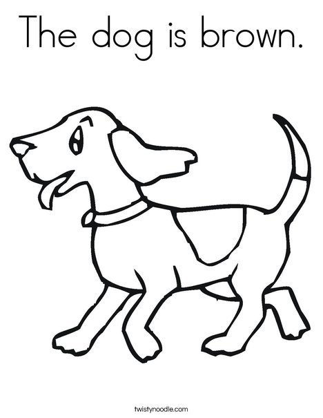 The dog is brown Coloring Page - Twisty Noodle