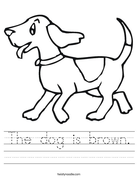 the dog is brown worksheet twisty noodle. Black Bedroom Furniture Sets. Home Design Ideas