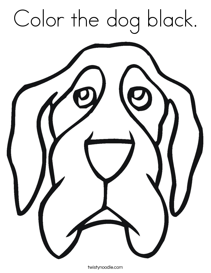 black dogs coloring pages - photo#7