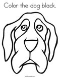 Color the dog black. Coloring Page