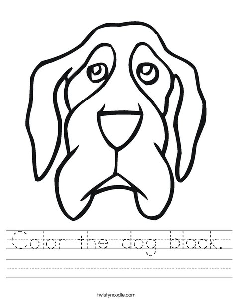 Dog Head Worksheet