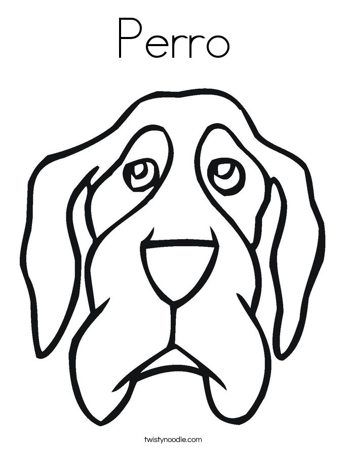Perro Coloring Page