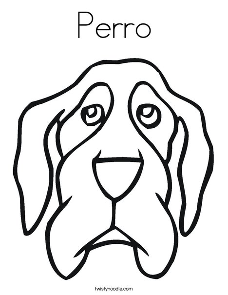 Dog Head Coloring Page