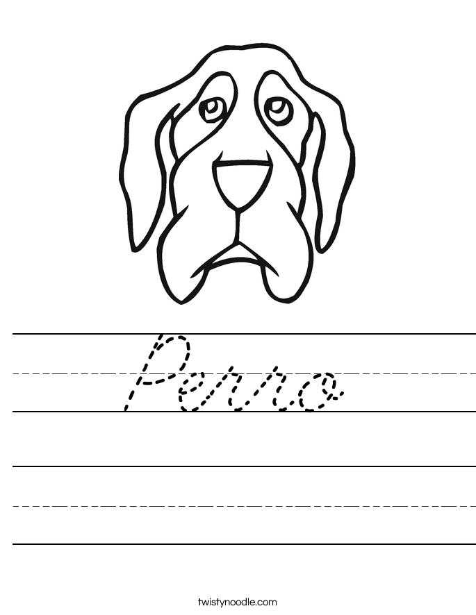 Perro Worksheet