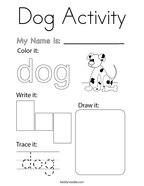 Dog Activity Coloring Page