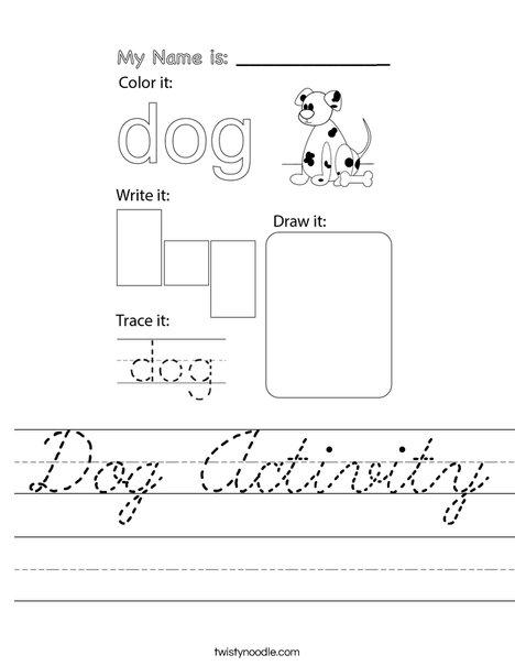 Dog Activity Worksheet