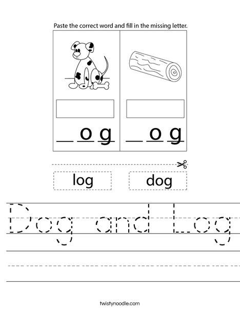 Dog and Log Worksheet