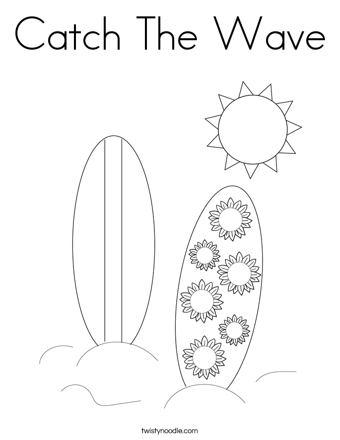 Catch The Wave Coloring Page