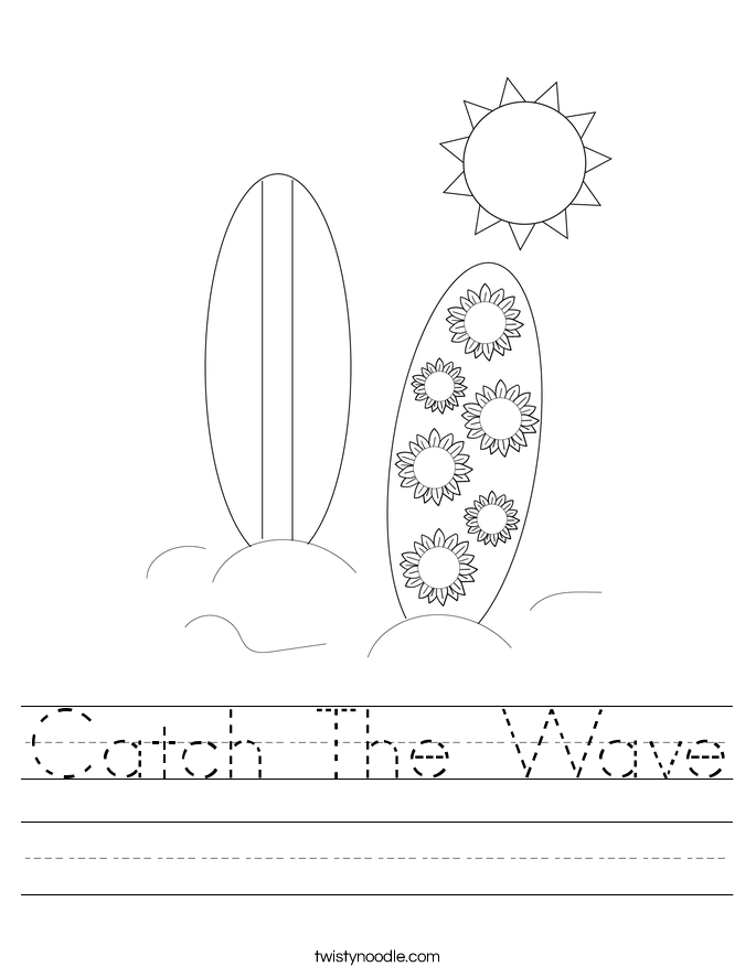 Catch The Wave Worksheet