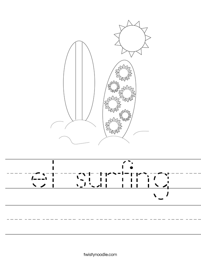 el surfing Worksheet