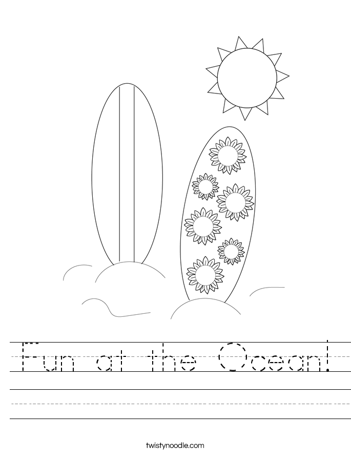 Fun at the Ocean! Worksheet