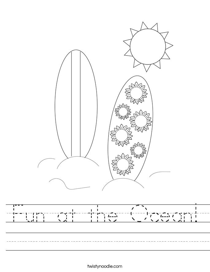 Fun at the Ocean! Worksheet