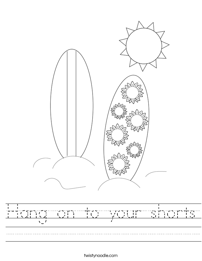 Hang on to your shorts Worksheet