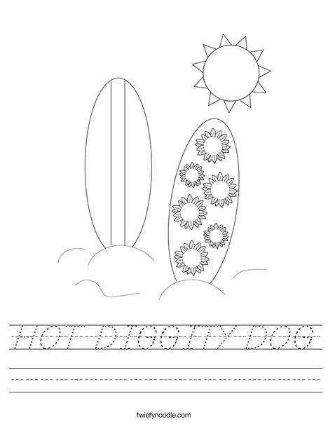 Dog Surfing Worksheet