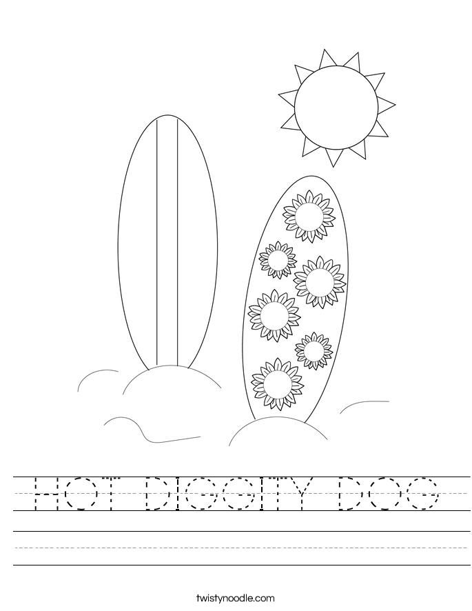 HOT DIGGITY DOG Worksheet