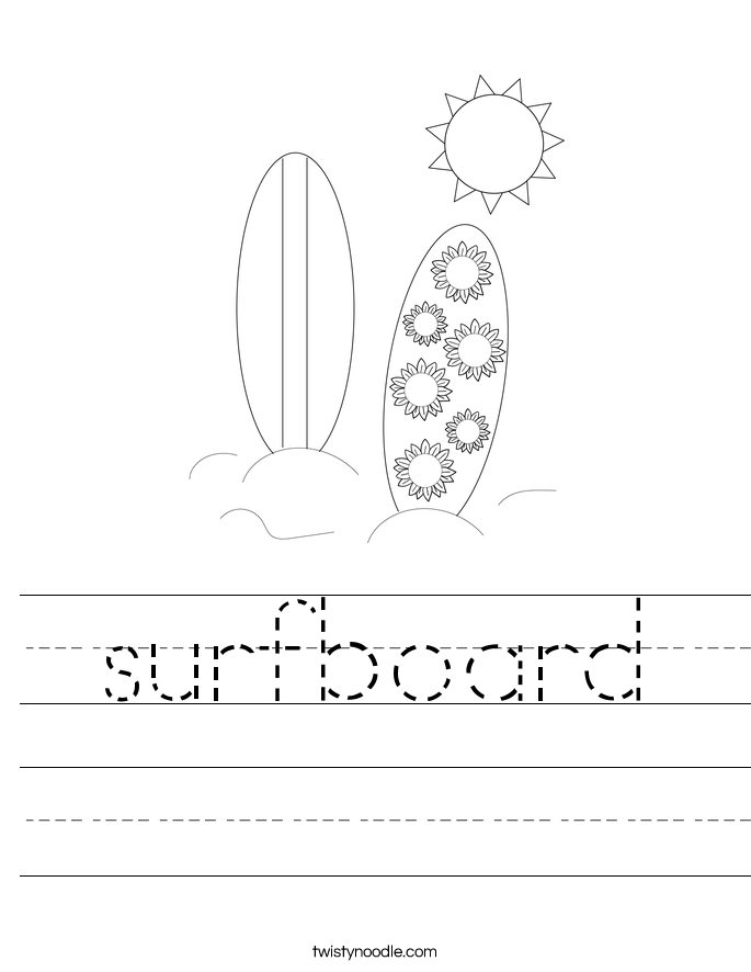 surfboard Worksheet