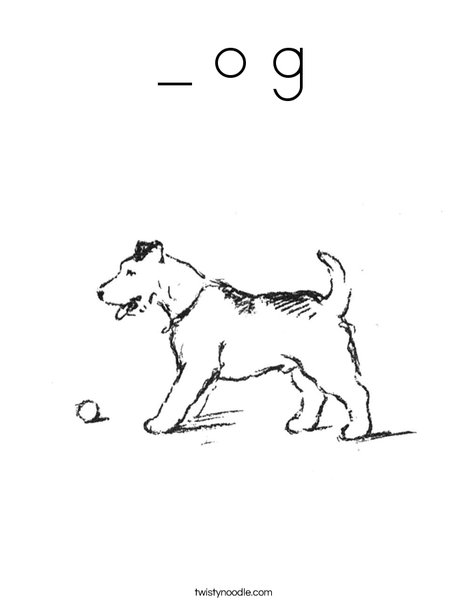 Dog with Ball Coloring Page