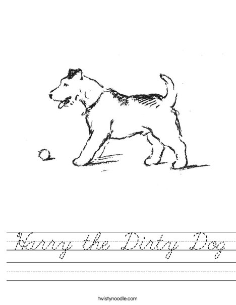 Dog with Ball Worksheet