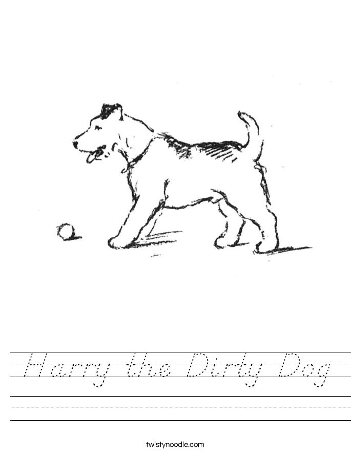 Harry the Dirty Dog Worksheet