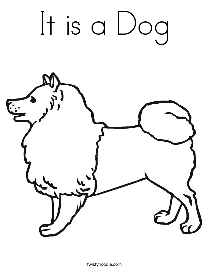 It is a Dog Coloring Page