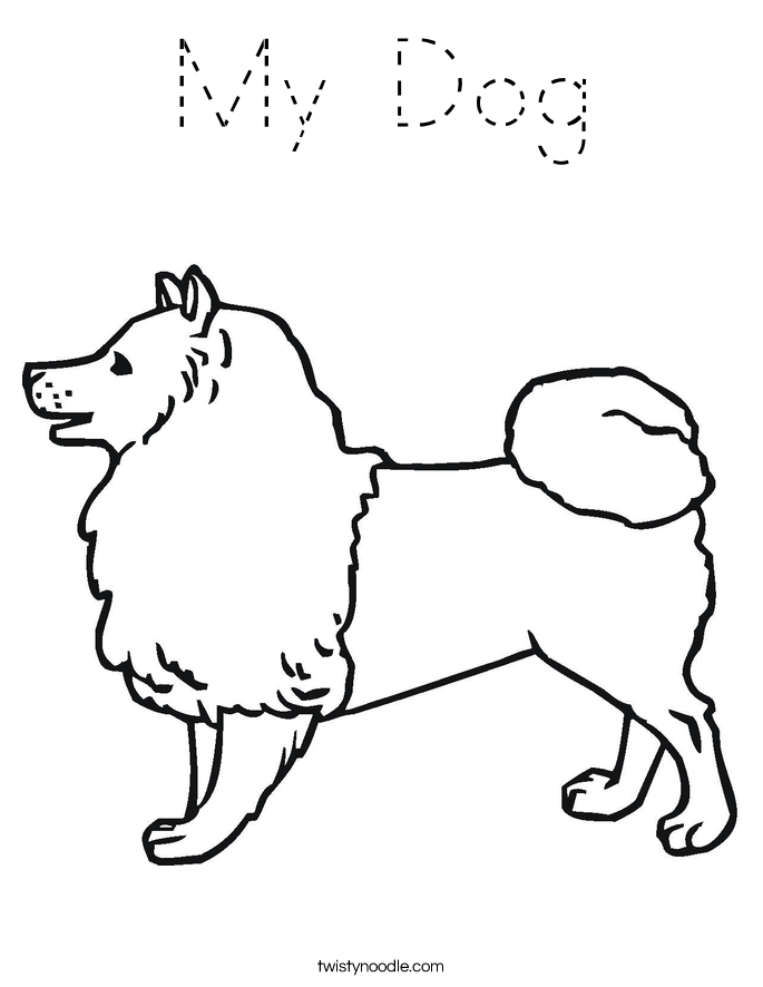 My Dog Coloring Page