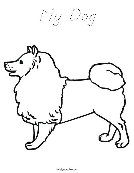 Collie Dog Coloring Page