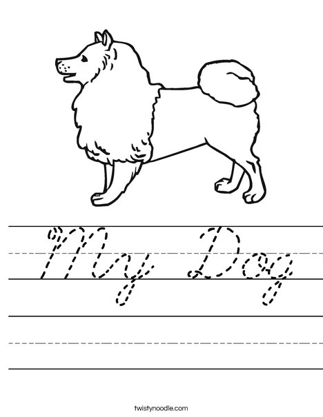 Collie Dog Worksheet