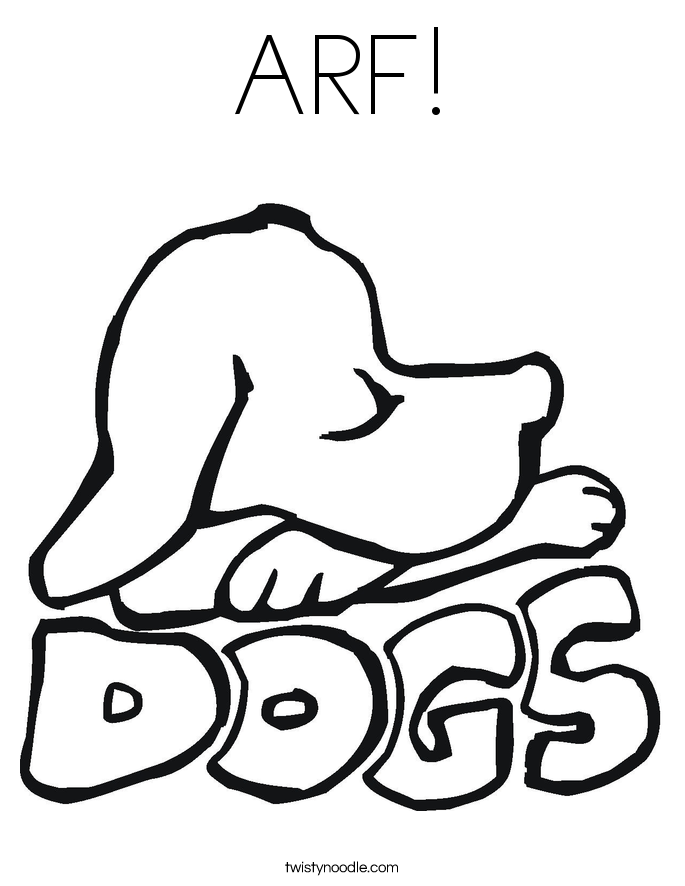 ARF! Coloring Page